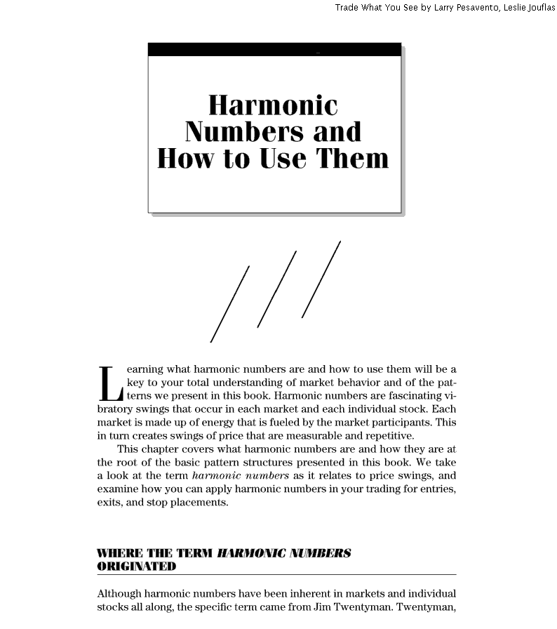 Harmonic and vibratory numbers Forex
